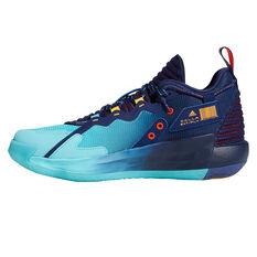 adidas Dame 7 Renaissance Man Basketball Shoes Blue US 7, Blue, rebel_hi-res