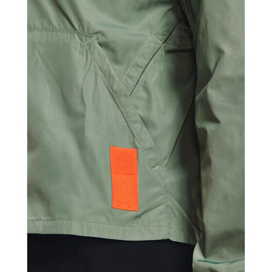 Under Armour Womens Run Anywhere Laser Jacket, Green, rebel_hi-res