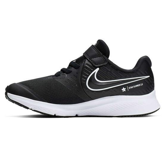 Nike Star Runner 2 Kids Running Shoes, Black / White, rebel_hi-res