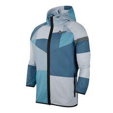 Nike Mens Windrunner Wild Running Jacket Blue / White XS, Blue / White, rebel_hi-res