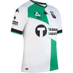 Western United FC 2020/21 Mens Away Jersey White / Green S, White / Green, rebel_hi-res