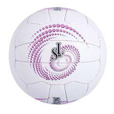 Sharni Leyton Match Ball White / Purple 5, , rebel_hi-res