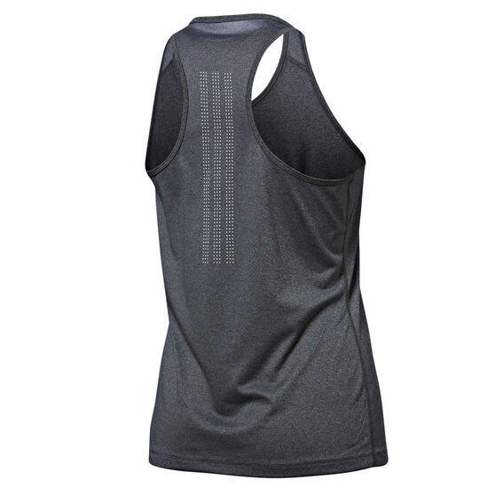adidas Womens Tech Prime 3 Stripes Tank, Black, rebel_hi-res
