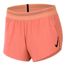 Nike Womens AeroSwift Running Shorts Orange XS, Orange, rebel_hi-res