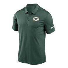Green Bay Packers 2020 Mens Logo Essential Polo Green S, Green, rebel_hi-res