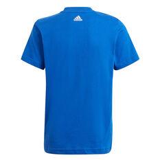 Adidas Boys Essential Logo Tee Blue 4, Blue, rebel_hi-res