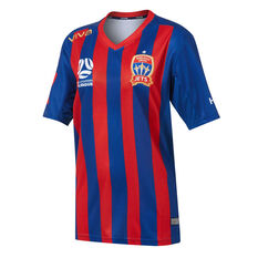 Newcastle Jets FC 2019/20 Mens Home Jersey Blue / Red S, Blue / Red, rebel_hi-res