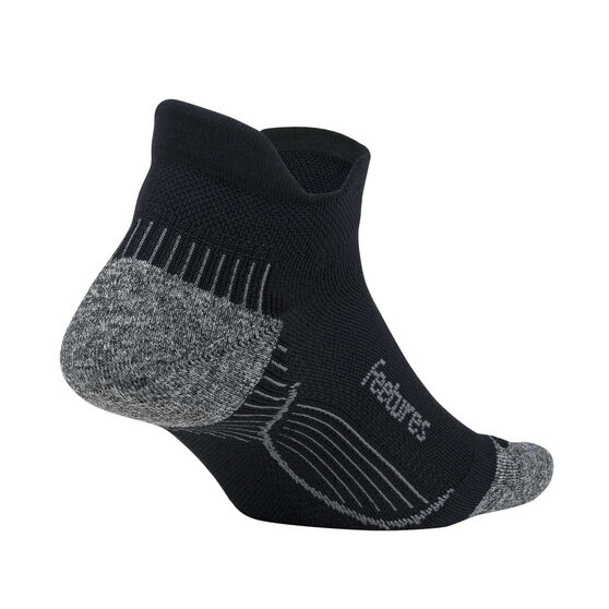 Feetures PF Relief No Show Tab Socks, Black, rebel_hi-res