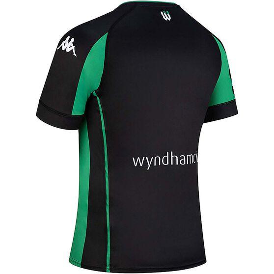 Western United FC 2020/21 Mens Home Jersey, Black / Green, rebel_hi-res
