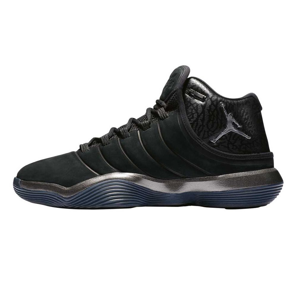 9e44f9ddcfcb3 Nike Jordan Lunar Superfly Mens Basketball Shoes Black   Silver US 7 ...