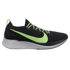 Nike Zoom Fly Flyknit Mens Running Shoes Black / Lime US 7, Black / Lime, rebel_hi-res