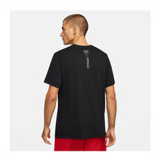 Nike Mens Eluid Dri-FIT Running Tee Black XS, Black, rebel_hi-res