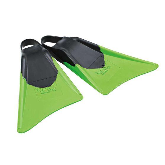 Raw Edge Surf Fins, Black / Green, rebel_hi-res