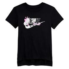 Nike Girls Sportswear Iconclash Tee, Black, rebel_hi-res