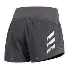 adidas Womens Run It 3-Stripes Shorts Grey XS, Grey, rebel_hi-res