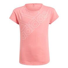 Adidas Girls Logo Tee Pink 4, Pink, rebel_hi-res