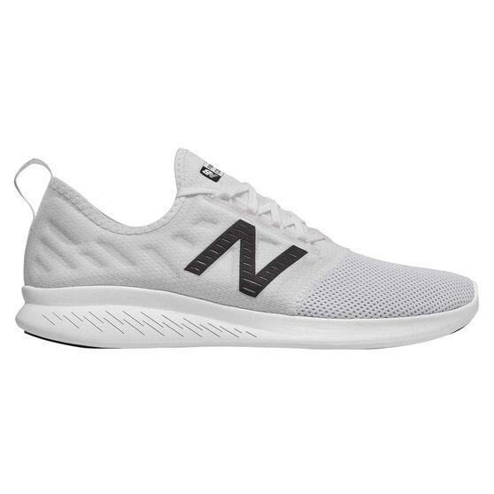 New Balance FuelCore Coast v4 Mens Running Shoes, White, rebel_hi-res