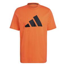 adidas Mens Future Icons Badge of Sport Tee Orange S, Orange, rebel_hi-res
