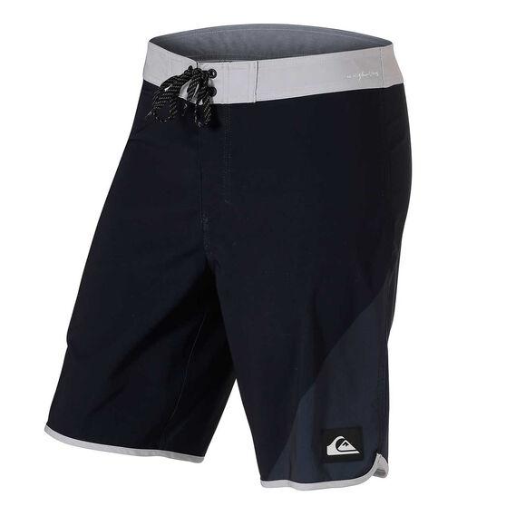Quiksilver Mens Highline New Wave 20in Board Shorts, Black, rebel_hi-res