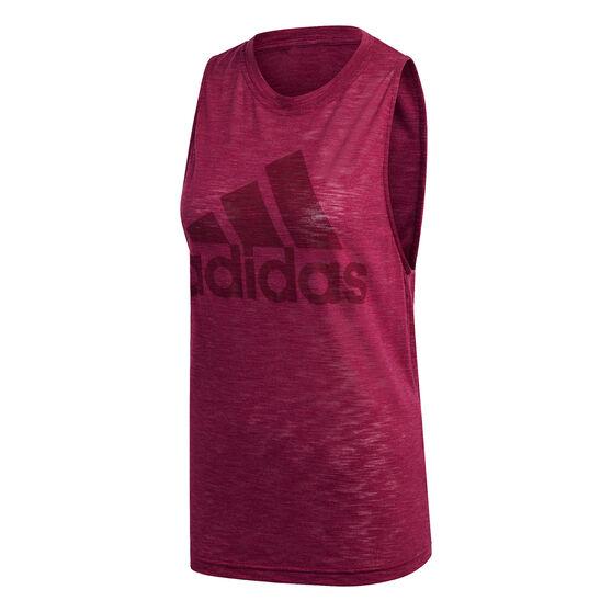 adidas Womens Winners Tank, Purple, rebel_hi-res
