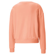 Puma Womens Modern Basics Sweater Orange XS, Orange, rebel_hi-res