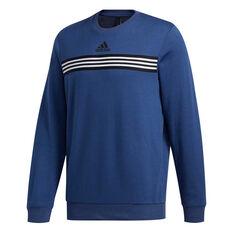adidas Mens Post Game Sweatshirt Blue S, Blue, rebel_hi-res