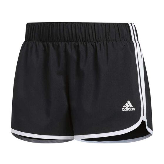 adidas Womens M10 Icon Shorts, Black / White, rebel_hi-res