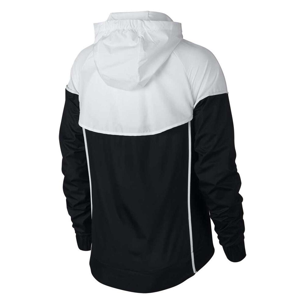 6646e376c368 Nike Womens Sportswear Windrunner Jacket Black   White XS Adult ...