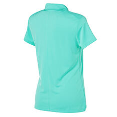 Nike Womens Dry Golf Polo Aqua S, Aqua, rebel_hi-res