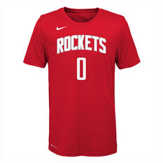 Nike Houston Rockets Russell Westbrook 2019/20 Kids Icon Tee, Red, rebel_hi-res
