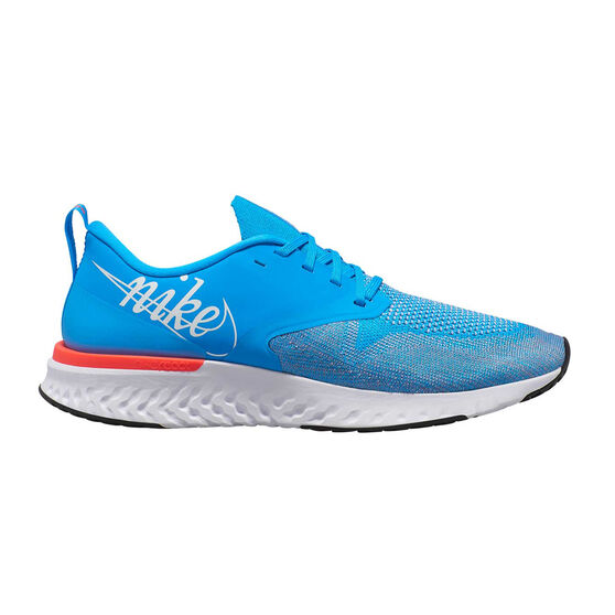 Nike Odyssey React Flyknit 2 Mens Running Shoes, Blue / White, rebel_hi-res
