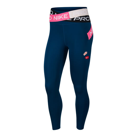 Nike Womens Icon Clash One Luxe 7/8 Tights, Blue, rebel_hi-res