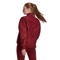 adidas Womens Karlie Kloss Light Padded Jacket Red XS, Red, rebel_hi-res