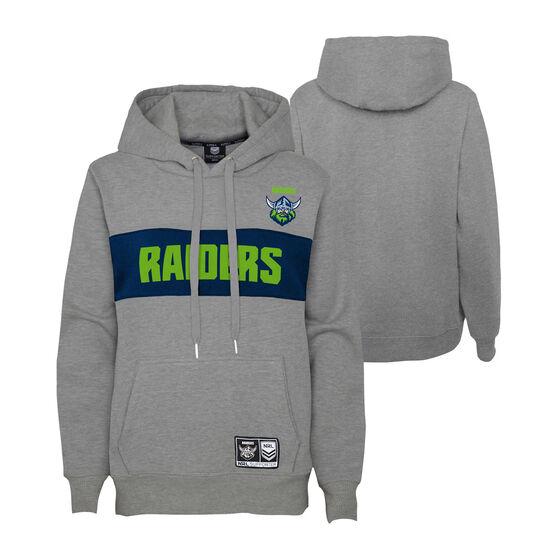 Canberra Raiders 2021 Mens Hoodie, Grey, rebel_hi-res