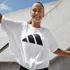 adidas Womens Sportswear Adjustable Badge Of Sport Tee White XS, White, rebel_hi-res