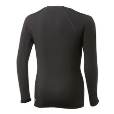 Quiksilver Boys Heater Long Sleeve Rash Vest Black 8, Black, rebel_hi-res