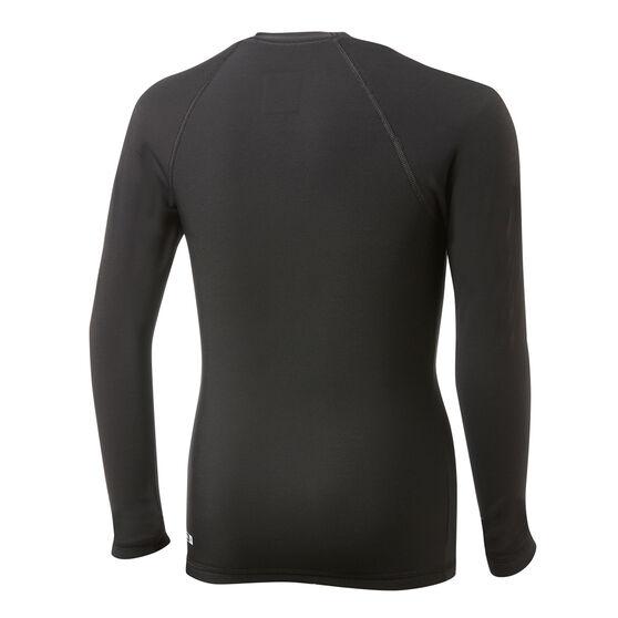 Quiksilver Boys Heater Long Sleeve Rash Vest Black 8, Black, rebel_hi-res