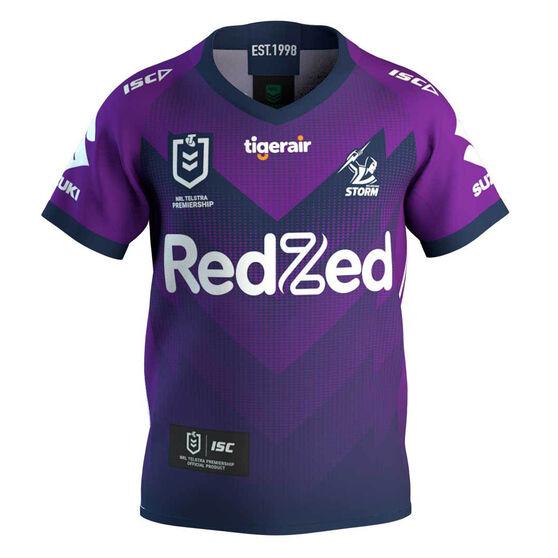 Melbourne Storm 2020 Kids Home Jersey, Purple, rebel_hi-res