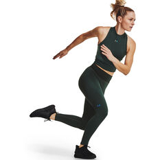 Under Armour Womens UA Rush Seamless Ankle Tights, Green, rebel_hi-res