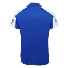 Canterbury-Bankstown Bulldogs 2020 Mens Media Polo Blue S, Blue, rebel_hi-res