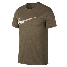 Nike Mens Dri FIT Legend Camo Swoosh Training Tee Black S, Black, rebel_hi-res