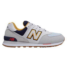 New Balance 574 Mens Casual Shoes White/Navy US 7, White/Navy, rebel_hi-res