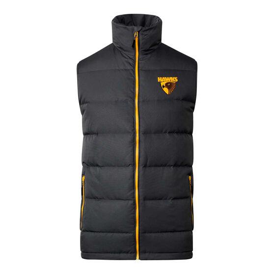 Hawthorn Hawks 2020 Mens Down Vest, Grey, rebel_hi-res