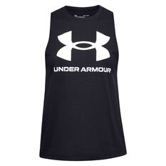 Under Armour Womens Sportstyle Graphic Muscle Tank Black S, Black, rebel_hi-res