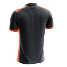 GWS Giants 2019 Mens Media Polo Grey / Orange S, Grey / Orange, rebel_hi-res