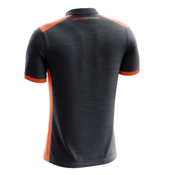 GWS Giants 2019 Mens Media Polo Grey / Orange M, Grey / Orange, rebel_hi-res