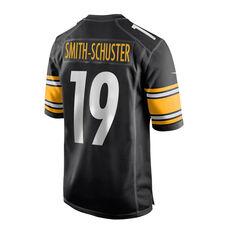 Pittsburgh Steelers JuJu Smith-Schuster Mens Jersey Black S, Black, rebel_hi-res