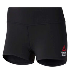Reebok Womens CrossFit Chase Bootie Shorts Black XS, Black, rebel_hi-res