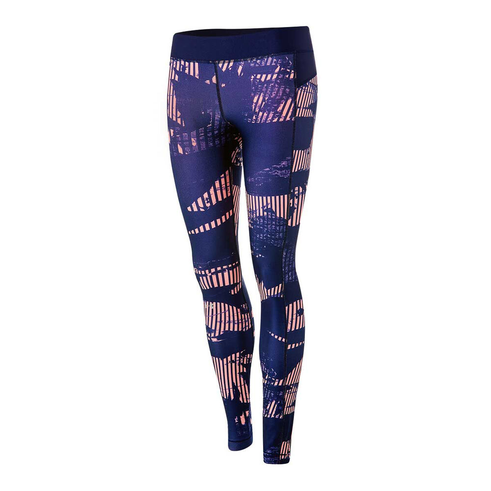 5fd01873f26a5 Under Armour Womens HeatGear Armour Printed Leggings Pink / Navy XS, Pink /  Navy,