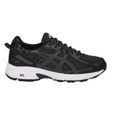 Asics Gel Venture 6 Kids Running Shoes Black / Grey US 1, Black / Grey, rebel_hi-res